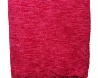 100% Yak Wool Red PlainShawl, Nepal