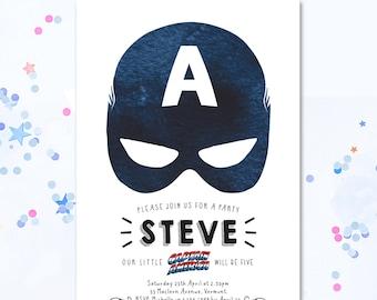 Captain america party | Etsy