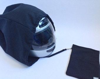 Black smooth helmet case