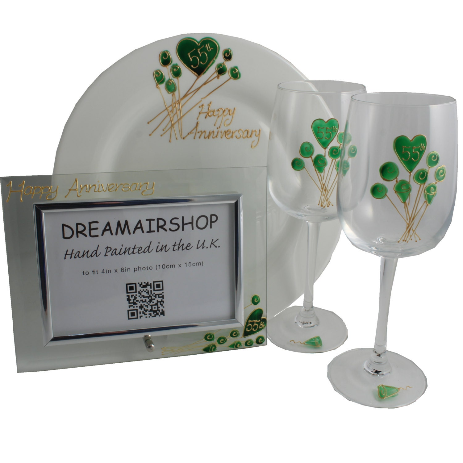 Emerald Wedding Anniversary Gifts: PERSONALISED 55th Emerald Wedding Anniversary Gift Sets