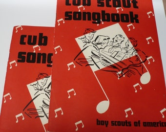 LOT of 2 -- BSA Cub Scout Book: Cub Scout Songbook, 1958