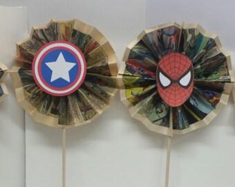 Super hero comic book centerpieces