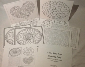 Color your Own Greeting Cards (Set #7)