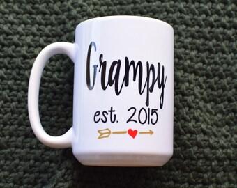 Grampy Coffee Mug - Pregnancy Announcement - Birthday Gift
