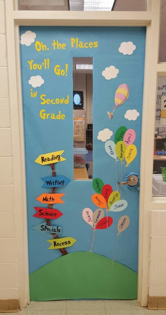 Oh The Places You Ll Go Classroom Door Decor By