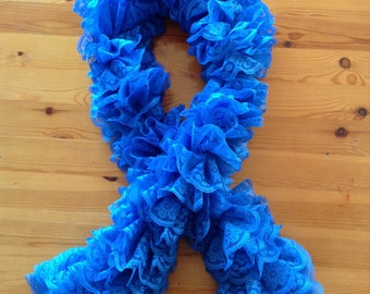 Ruffled scarves