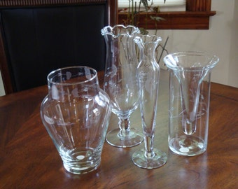 Princess House HERITAGE Various Size Flower Vases!