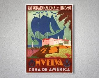 Hvelva Cuna de America Travel Poster -  Poster Print, Sticker or Canvas Print