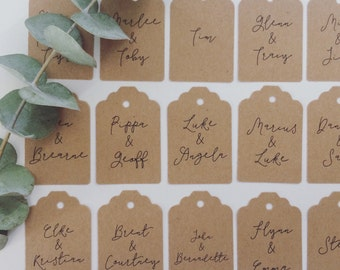 Personalised Wedding Tags | Wedding Invitation Tags | Guest Name Tags | Wedding Favour Tags | Lily Collection