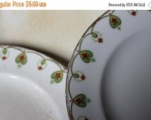 Fall CLEARANCE Sale Set of Cool Chippy China - Red and Green Pattern from Stinthal China, Crooksville, Ohio