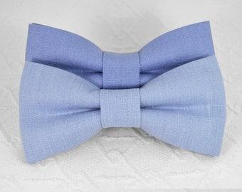 Serenity bow tie, pale blue purple bow tie, linen bow tie, wedding bow tie, pastel bow tie, mens bow tie, bow tie for men, Cerulean Bow Tie