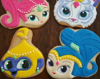 Shimmer and Shine Cookies  (12 cookies)