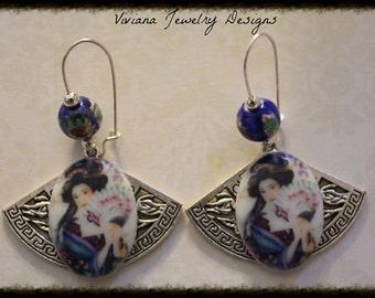 Geisha Fan Dance Earrings