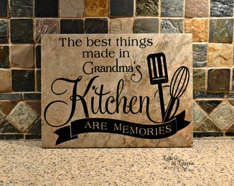 Grandparent Gift, The best things made in Grandma's Kitchen are memories,Gift for Grandma,Grandparents Day, Grandmother Birthday Gift