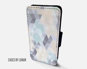 GEOMETRIC Iphone 6 Wallet Case Leather Iphone 6 Case Leather Iphone 6 Flip Case Iphone 6 Leather Wallet Case Iphone 6 Leather Sleeve Cover