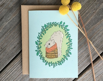 Squirrel Card, Woodland Creatures Card, Squirrel With Shirt