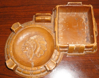 Vintage Indian Chief Ashtray