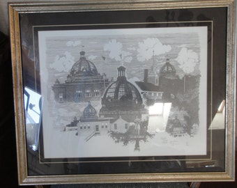 Vintage 1980's Gordon Glass Print/ Dated /Numbered