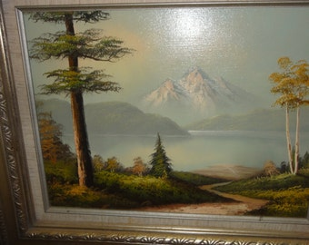 Vintage Tom Ricker Landscape Oil Painting