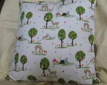 "Woodland Scene Cushion Cover 16 x 16"""