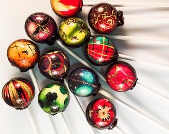 12 Christmas Ornaments Lollipops