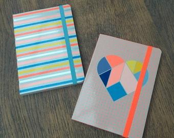 Set of 2 notebooks A6  (NB02)