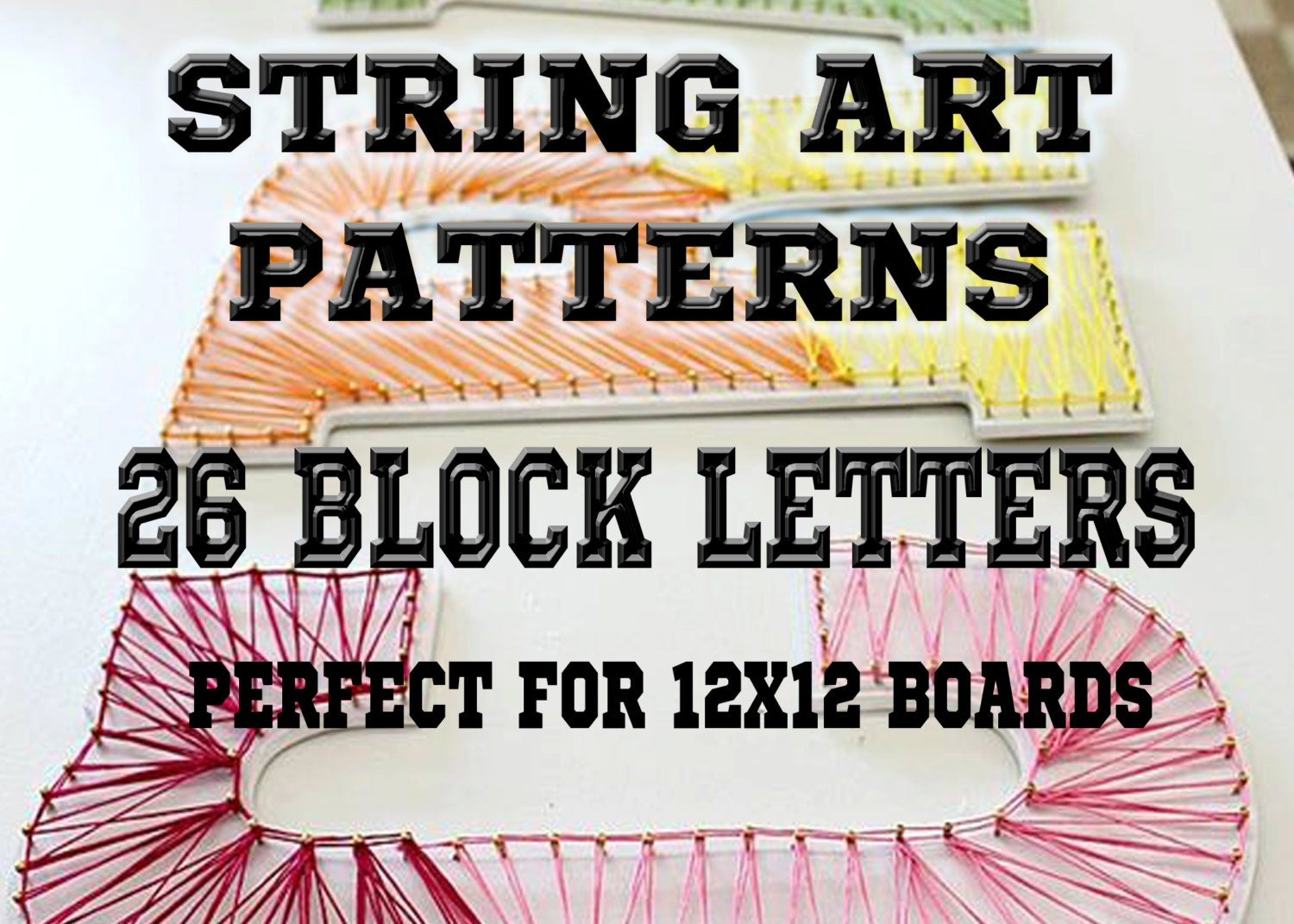 String art patterns 26 block capital letters string art zoom pronofoot35fo Images