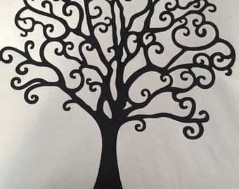 Removable Tree or Circle Car/Wall or Heat Transfer Vinyl Decals Decals