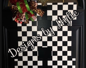Checkered Door Hanger