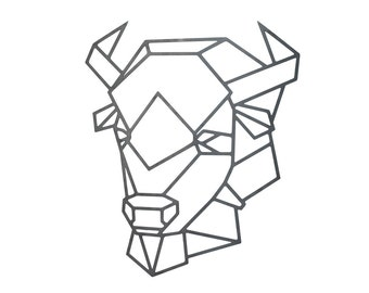 Bison - Steel - Geometric - Wall Art