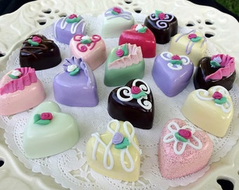 Set of 6 Realistic Heart Candies