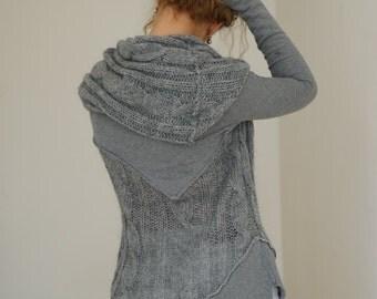 Oversize Hoodie, Womens Sweatshirt, Hooded Tunic, Oversized Sweatshirt, Hooded Top, Loose Top, Asymmetric Tunic, Oversized Top,Plus Size Top