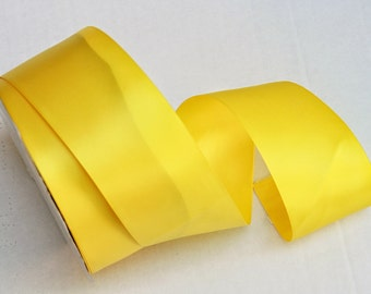 Yellow Double Faced satin Ribbon 2.5 inches wide – Yellow Satin Ribbon - Satin Ribbon Yellow- Ribbon YellowSatin
