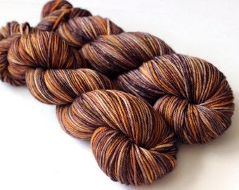 Golden Charr DK OOAK: 100% Superwash Merino Handpainted Yarn