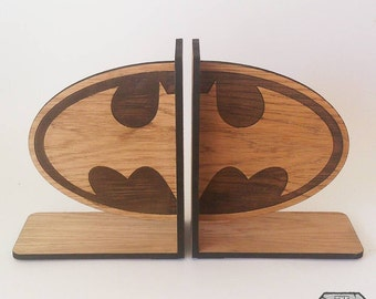 Batman Oak Book Ends