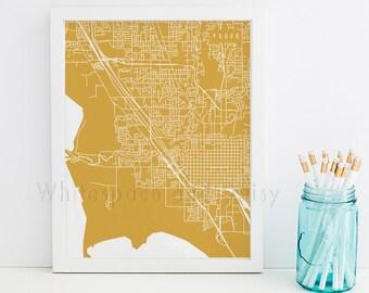 Provo Map Provo Art Provo Map Art Provo Print Provo Printable Provo City Art Provo City Map Utah Art