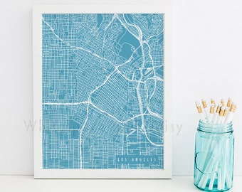 Los Angeles Map Los Angeles Art Los Angeles Map Art Los Angeles Print Los Angeles Printable Los Angeles City Art California Art