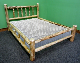 Rustic Log Bed - Double Side Rails