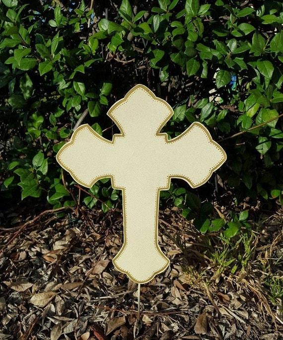 Cross Yard Stake Memorial Site Stake Outdoor Grave Marker