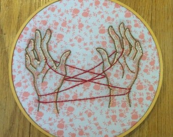 """Cats Cradle 8"""" Hoop Embroidery"""