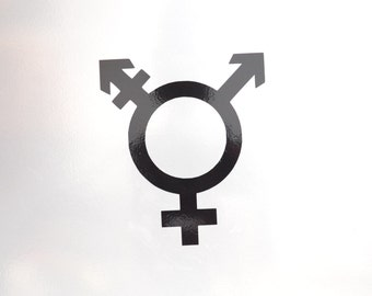 Window Decal, Transgender, ST-014d