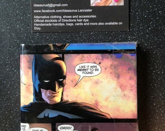 Upcycled comic book wallet