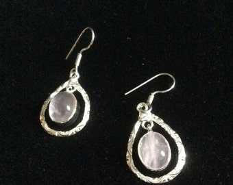 Healing Stones, Rose Quartz Earrings
