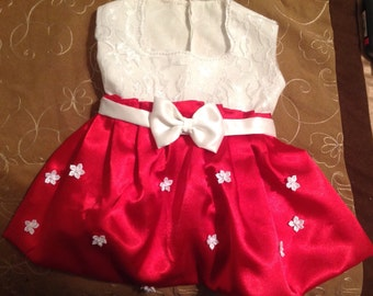 Red and white Christmas Holiday Dress