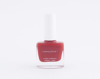 5 Free Nail Varnish • Vegan • Cruelty Free • Made in London by Hopscotch — Red