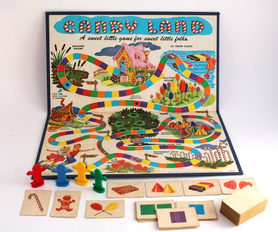 1955 Candy Land Milton Bradley Vintage Children S Board