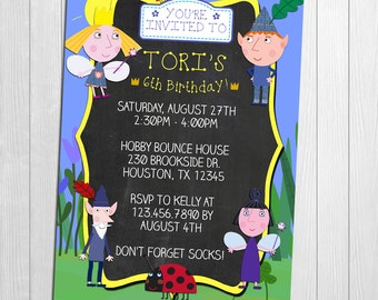 Ben and Holly, Ben and Holly Invitation, Ben and Holly Party, Ben and Holly's Little Kingdom, Ben and Holly Printable