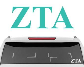 Zeta Tau Alpha Decal | Sorority Car Decals, Sorority Vinyl Decal, Sorority Laptop Decal, Sorority Decal
