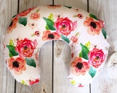 Nursing Pillow Cover: Floral Dreams. Nursing Pillow Cover. Floral Nursing Pillow Cover. Girl Nursing Pillow Cover.