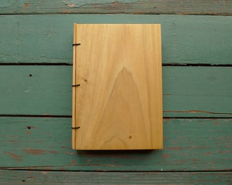 "Poplar Wood Journal, Sketchbook or Guestbook - Mini Size 5"" x 7"" - Handmade"